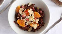 porridge cacao e arance