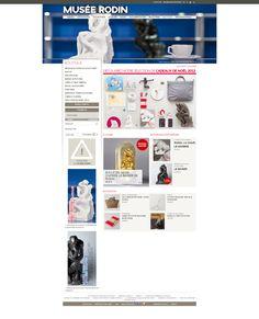 Musée Rodin à Paris : création et réalisation de la boutique en ligne du musée #Minitl   www.minit-l.com