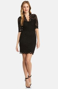 I love it $118.00 Karen Kane V-Neck Lace Sheath Dress available at #Nordstrom
