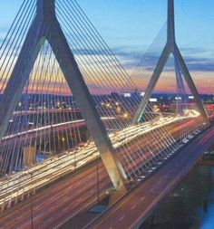 Leonard P. Zakim Bunker Hill Memorial Bridge in Boston, MA Boston Vacation, Vacation Spots, Great Places, Places To See, Beautiful Places, Boston Strong, In Boston, Places Around The World, Around The Worlds