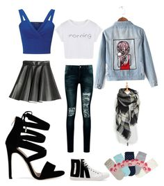 """""""which one?"""" by cozywow-socks on Polyvore featuring MSGM, Chicnova Fashion, Miss Selfridge, DKNY and Boohoo"""