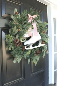 Christmas Porch, Outdoor Christmas Decorations, Rustic Christmas, Simple Christmas, Christmas Holidays, Christmas Wreaths, White Christmas, Christmas Manger, Christmas Lights