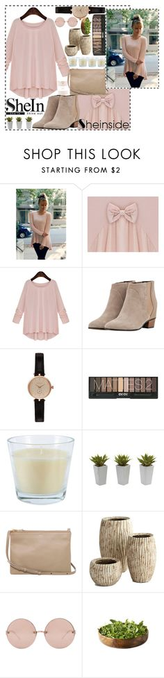 """""""SheIn contest, Pink Round Neck Loose*"""" by fashion-choice ❤ liked on Polyvore featuring Golden Goose, Barbour, Nearly Natural, CÉLINE, Cyan Design, Linda Farrow and Kate Spade"""