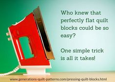 Pressing Quilt Blocks: Tips for Flatter Blocks