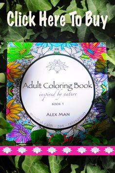 This coloring book provides hours of relaxation, mindful calm, and fun while coloring these nature inspired drawings.  Suitable for all ages.