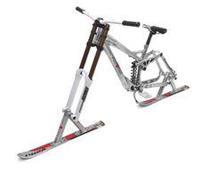 ride the alutech skibike