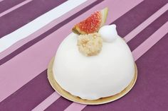 Almond Figue Goat Cheese mousse cake entremet