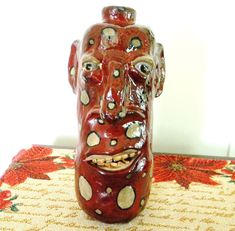 Southern Pottery Face Jug by Kenny.  Hand dug clay.