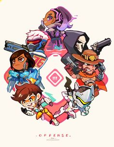 Which is your favorite class? (Support all the way for me) You can also get them as keychains, along with some of my other Overwatch stuff here >> http://onemegawatt.tictail.com/