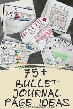 75+ Bullet Journal Page Ideas | Bullet Journal Ideas. Pages, spreads, layouts and tracker ideas. BIG list of all your page ideas. Perfect for when you are starting a bullet journal! #bulletjournal #bujo #planner #bulletjournalideas #bulletjournalspreads