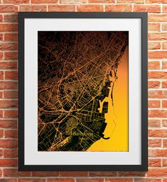 Barcelona City Map Print Digital Download, Spain, Street Map Art,map print, map poster,print map art travel, City Map Wall Art Map Wall Art, Map Art, Print Map, Poster Prints, Barcelona City Map, Printing Services, Online Printing, Travel City, Simple Prints