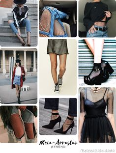 Eu lembro que lá pro meus 12/13 anos usava muito meia-arrastão, era super moda na época e adorava usar com saias e vestido, e até hoje ainda tenho rsrs.