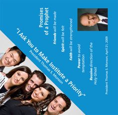 Make Institute a Priority pyramid brochure.