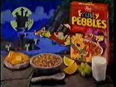 """Flintstones' """"Fruity Pebbles"""" Halloween Commercial"""