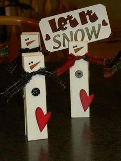 snowmen giant clothespins