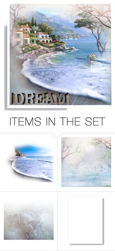 """""""by the ocean"""" by namaste203 ❤ liked on Polyvore featuring art"""