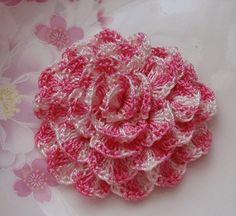 Crochet Flower  In  Gradient   YH-070-01. $3.00, via Etsy.