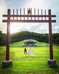 """""""Just a few kilometers east of Seoul, you'll see a magical place called #Donggureung Royal Tombs, the resting place of Joseon's kings and queens and a…"""""""