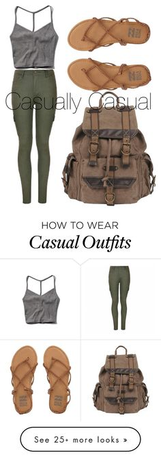 """Casually Casual"" by kimbo20111 on Polyvore featuring Abercrombie & Fitch, Ally Fashion, Wilsons Leather and Billabong"