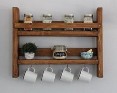 Having DIY pallet kitchen furniture will be so adorable since it looks more rustic and unique. One more, it is popular to have pallet furniture now. Mason Jar Herbs, Mason Jar Herb Garden, Mason Jars, Cheap Furniture, Pallet Furniture, Kitchen Furniture, Furniture Ideas, Furniture Movers, Furniture Stores