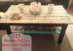 Transform an Ikea table into a Wooden Pallet Inspired Coffee Table!  - Frugal Mom Eh!