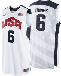 LeBron James #6 2012 Olympics Replica Jersey: Nike Team USA Basketball White Nike Replica Jersey $74.99 http://www.fansedge.com/LeBron-James-6-2012-Olympics-Replica-Jersey-Nike-Team-USA-Basketball-White-Nike-Replica-Jersey-_1470937790_PD.html?social=pinterest_pfid25-12452