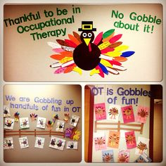 Our Occupational therapy bulletin boards for Thanksgiving. Tools to Grow…