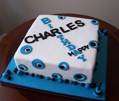 Masculine Birthday Cake | by cakespace - Beth (Chantilly Cake Designs)