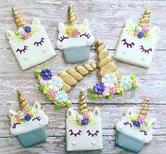 sugar cookies de unicornio
