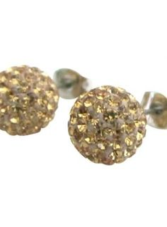 Light Colorado 9mm Pave Ball Stud Earrings,  Jewelry, Light Colorado Light 9mm Light Pave, Chic