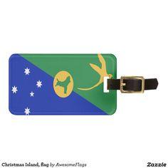 Christmas Island, flag Tags For Luggage