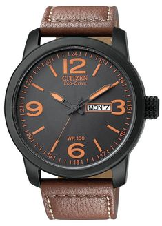 """Citizen men watches : Citizen Men's BM8475-26E """"Eco-Drive"""" Stainless Steel and Synthetic Leather Strap Watch"""