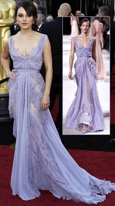 I'm in love with this Elie Saab Lilac and Lace dress on Mila Kunis at the 2011 Oscars.