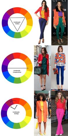 Para acertar no color block, eleja até três cores. Peças lisas também facili… To hit the color block, choose up to three colors. Smooth parts also make it easy. Colour Combinations Fashion, Color Combinations For Clothes, Color Blocking Outfits, Fashion Colours, Colorful Fashion, Color Combos, Color Wheel Fashion, Colour Blocking Fashion, Pattern Mixing Outfits