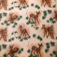 Vintage Christmas Wrapping Paper Forest Christmas | eBay