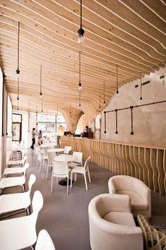 Zmianatematu Cafetaria XM3 05 furnime » Artistic Cafe Interior Designs: Zmianatematu Coffee Shop by XM3