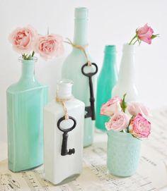 Vases décoratifs peinturés