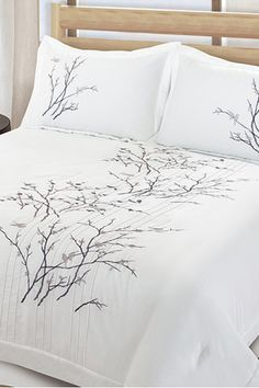 Study Abroad 101: Make Your Chez Abroad Seem More Like Home #refinery29  http://www.refinery29.com/study-abroad-decorating#slide5  If bed linens are not included where you're staying, have this cozy set shipped and waiting for you when you reach your new pad. Lightning Branch Comforter Set, $59.99, available at Overstock.