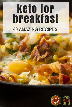 40 Insanely Delicious Keto Breakfast Recipes - Keto Breakfast - Ideas of Keto Breakfast - Bored with bacon and eggs? These simple-yet-creative Keto breakfast recipes will help keep you on the healthy eating track and keep your taste buds titillated! Ketogenic Recipes, Low Carb Recipes, Diet Recipes, Healthy Recipes, Ketogenic Diet, Diabetic Breakfast Recipes, Ketosis Diet, Healthy Breakfasts, Meat Recipes