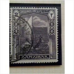 Zanzibar 1936 2s Slate Violet Used SG 319 Sailing Canoe Listing in the Zanzibar,Commonwealth & British Colonial,Stamps Category on eBid United Kingdom