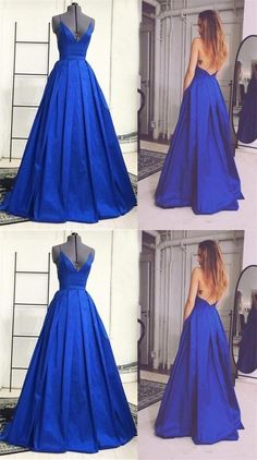 Prom Dresses,V-neck Prom Dresses,Royal Blue Prom Dresses,Backless Prom Dresses,Long Prom Dresses,Prom Dress,Prom Gowns,Prom Dresses,Evening Dresses,Party Dresses,Women Dresses
