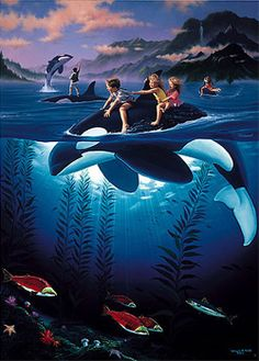 Where to Sell Wyland Art | wyland whale rides Wyland – WHALE RIDES