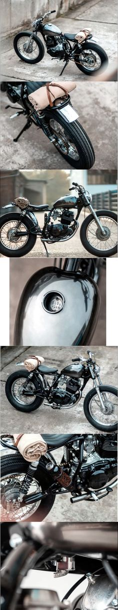 Classic bike's 2016 Yamaha SR 250 SE by Hookie co. Yamaha Cafe Racer, Yamaha Motorcycles, Cafe Racer Build, Scrambler Motorcycle, Moto Bike, Custom Motorcycles, Custom Bikes, Classic Motors, Classic Bikes