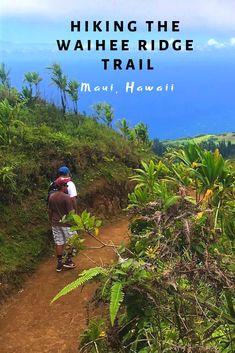 Hiking the beautiful Waihee Ridge Trail in Maui, Hawai'i Hikes In Maui, Hawaii Hikes, Trip To Maui, Hawaii Vacation, Maui Hawaii, Best Hawaii Resorts, Tropical Vacations, Kauai, Maui Honeymoon
