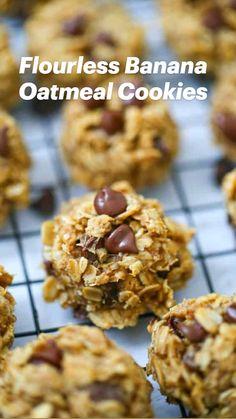 Oat Chocolate Chip Cookies, Banana Oatmeal Cookies, Chewy Peanut Butter Cookies, Oat Cookies, Healthy Cookies, Chocolate Flavors, Chocolate Recipes, Chocolate Chocolate, Healthy Sweets