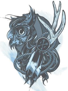 #owl #graphicdesign #illustration #poster Hydro74