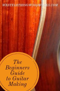 The beginners guide for making a guitar. This book takes a lot of the mystery out of guitar making and focuses on using standard tools. You don't need to spend a fortune to make a guitar. The book will teach you how. Happy building.