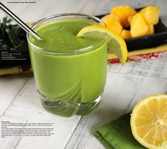 Claudia's mango and green bean smoothie