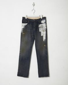 denim pants , color. washed and painted - ikkuna