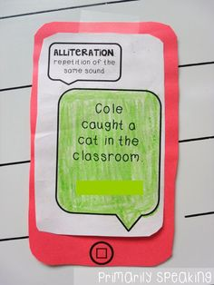 """iPhones and Alliteration-use with """"Oh Say Can You Say"""""""